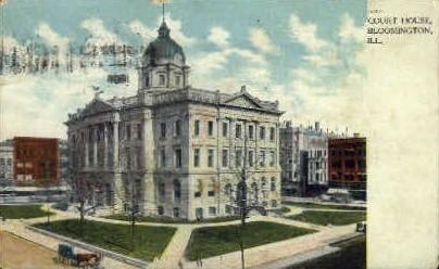 Court House - Bloomington, Illinois IL Postcard
