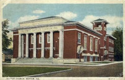 Baptist Church - Benton, Illinois IL Postcard