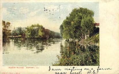 Hurds Island - Aurora, Illinois IL Postcard