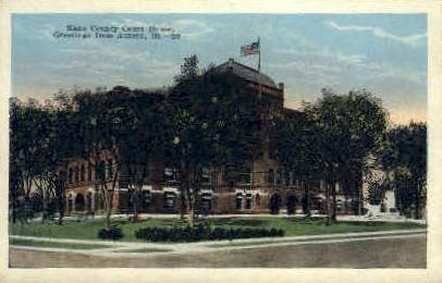 Kane County Court House - Aurora, Illinois IL Postcard