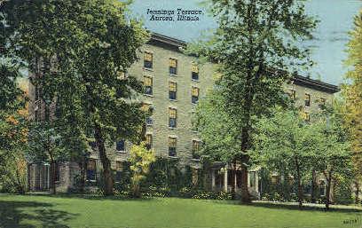 Jennings Terrace - Aurora, Illinois IL Postcard