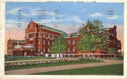 Mercyville Sanitarium - Aurora, Illinois IL Postcard