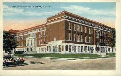 East High School - Aurora, Illinois IL Postcard