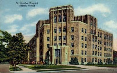 St. Charles Hospital - Aurora, Illinois IL Postcard