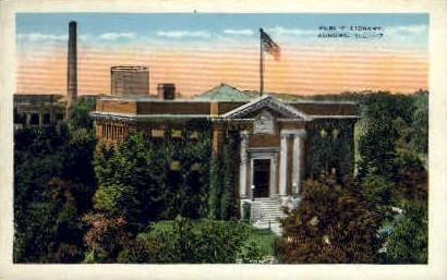 Public Library - Aurora, Illinois IL Postcard