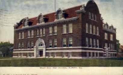 West Side High School - Aurora, Illinois IL Postcard