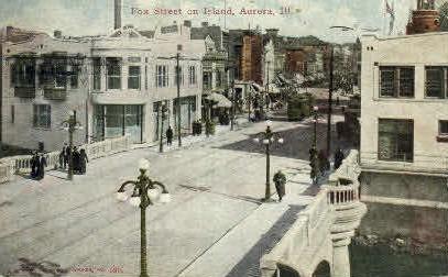 Fox St.  - Aurora, Illinois IL Postcard