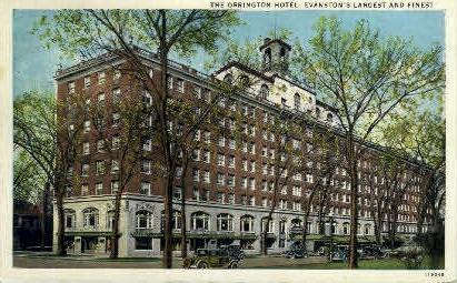The Orrington Hotel - Evanston, Illinois IL Postcard