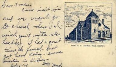 1st M.E. Church - Polo, Illinois IL Postcard