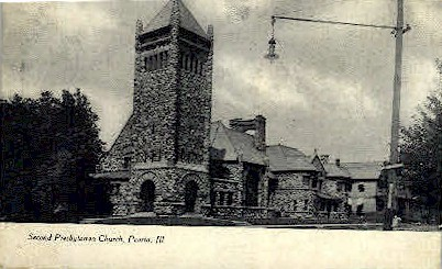 2nd Presbyterian Church - Peoria, Illinois IL Postcard