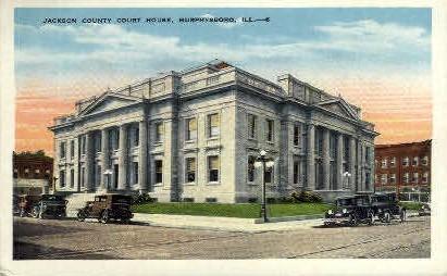 Jackson County Court House - Murphysboro, Illinois IL Postcard