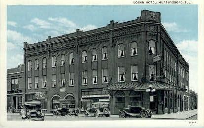 Logan Hotel - Murphysboro, Illinois IL Postcard