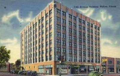 5th Avenue Bldg. - Moline, Illinois IL Postcard