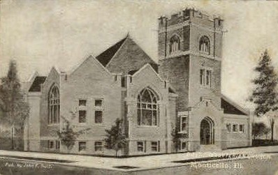 1st Presbyterian Church - Monticello, Illinois IL Postcard