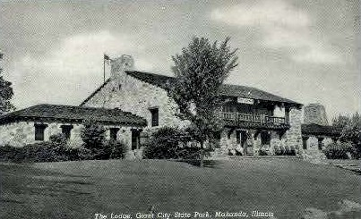 The Lodge - Makanda, Illinois IL Postcard
