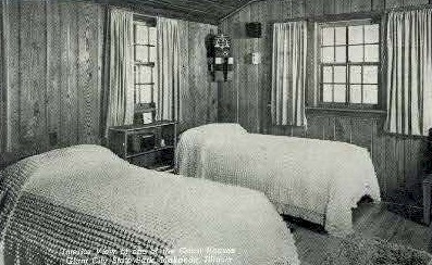 Interior of Guest House - Makanda, Illinois IL Postcard