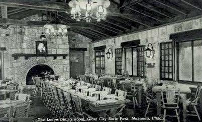 The Lodge Dinning Room - Makanda, Illinois IL Postcard