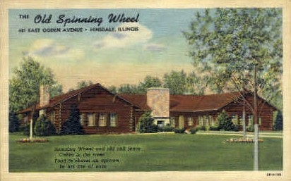 The Old Spinning Wheel  - Hinsdale, Illinois IL Postcard