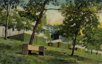 Cottages at Quiver Beach - Havana, Illinois IL Postcard