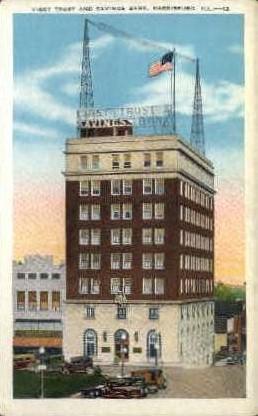 1st Trust & Savings Bank - Harrisburg, Illinois IL Postcard