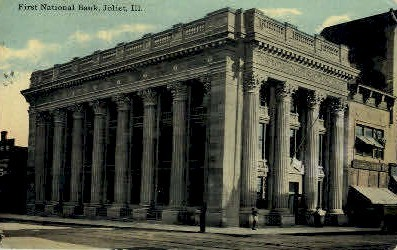 1st National Bank - Joliet, Illinois IL Postcard