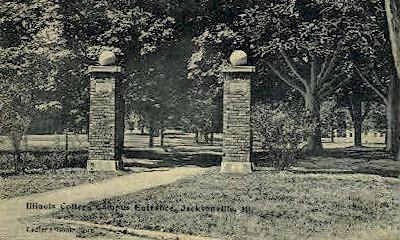 Illinois College Campus - Jacksonville Postcard