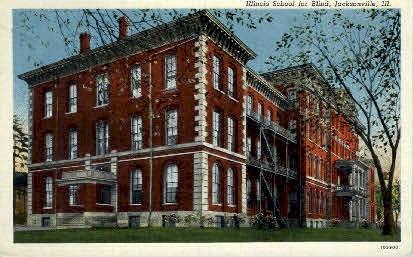 Illinois School for the Blind - Jacksonville Postcard