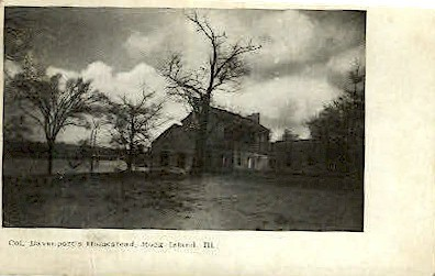 Col. Davenports Homestead - Rock Island, Illinois IL Postcard