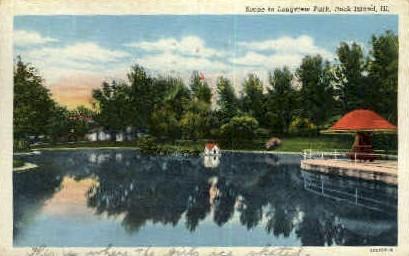 Longview Park - Rock Island, Illinois IL Postcard