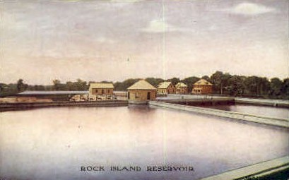 Rock Island Reservoir - Illinois IL Postcard