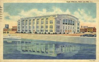 New Armory - Rock Island, Illinois IL Postcard