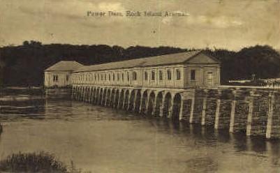 Power Dam - Rock Island, Illinois IL Postcard