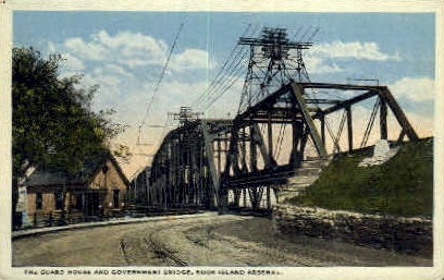 Guard House & Government Bridge - Rock Island, Illinois IL Postcard