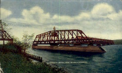 Government Bridge - Rock Island, Illinois IL Postcard
