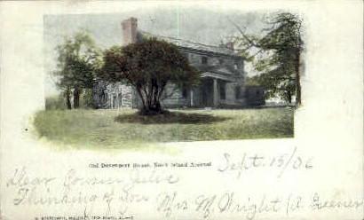 Old Davenport House - Rock Island, Illinois IL Postcard
