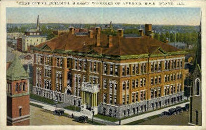 Head Office Bldg. - Rock Island, Illinois IL Postcard