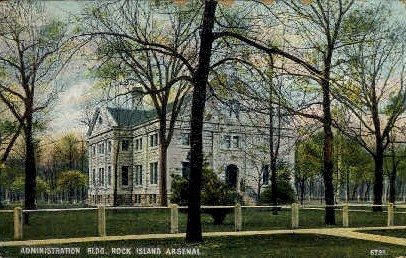 Admin Bldg. - Rock Island, Illinois IL Postcard