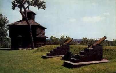 Block House - Rock Island, Illinois IL Postcard
