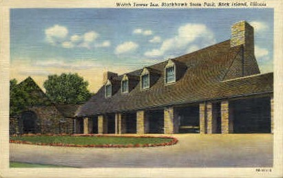 Watch Tower Inn - Rock Island, Illinois IL Postcard