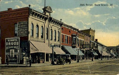 20th St.  - Rock Island, Illinois IL Postcard