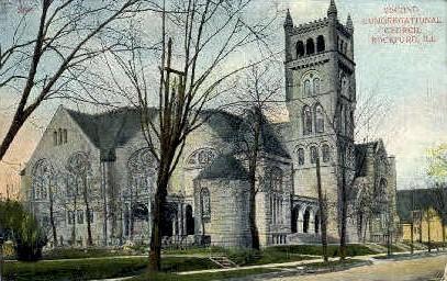 2nd Congregational Church - Rockford, Illinois IL Postcard