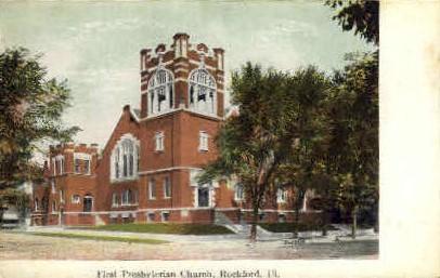 1st Presbyterian Church - Rockford, Illinois IL Postcard