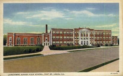 Landsdowne Junior High School - St. Louis, Illinois IL Postcard