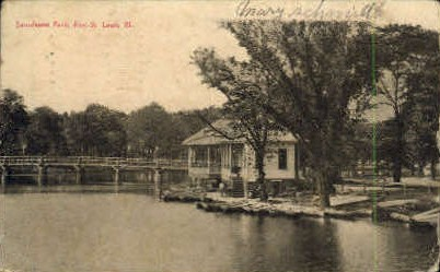 Lansdowne Park - St. Louis, Illinois IL Postcard