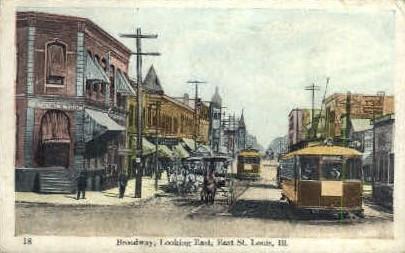 Broadway East - St. Louis, Illinois IL Postcard