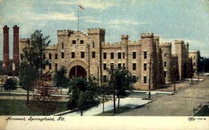 Arsenal - Springfield, Illinois IL Postcard