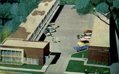 Mansion View Lodge - Springfield, Illinois IL Postcard
