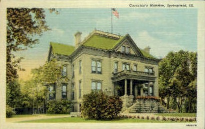 Governors Mansion - Springfield, Illinois IL Postcard