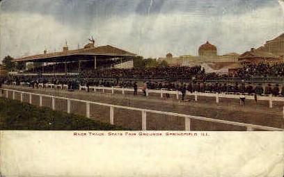Race Track - Springfield, Illinois IL Postcard