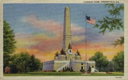 Lincolns Tomb - Springfield, Illinois IL Postcard